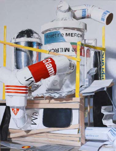 Laurent Rabier « Gaswerk », 2008 ;  oil on canvas ; 130x100 cm