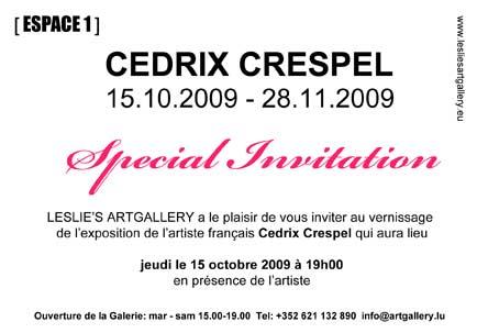 [Invitation solo exhibition Cedrix Crespel # recto]