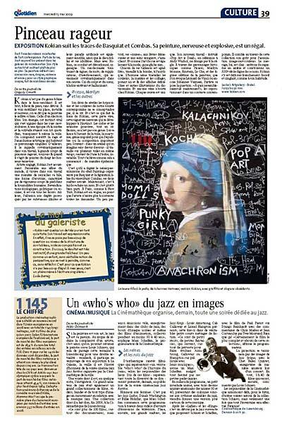 Le Quotidien 13.5.2009 page 39