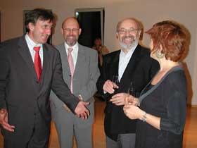Sylvie Jaubert souhaite la bienvenue au Ministre de L'Intérieur Jean-Marie Halsdorf (à droite)