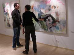 Sarah Bourdarias with visitor